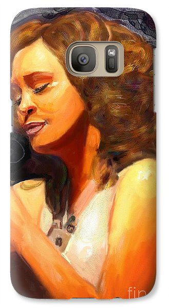 Galaxy Case featuring the painting Whitney Gone Too Soon by Vannetta Ferguson
