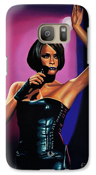 Rhythm And Blues Galaxy S7 Case - Whitney Houston On Stage by Paul Meijering