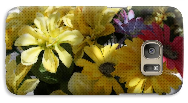 Galaxy Case featuring the photograph Whittle Yellow Basket Of Flowers by Sherri  Of Palm Springs