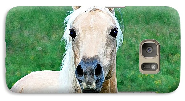 Galaxy Case featuring the photograph Who Comes To My Pasture  by Lila Fisher-Wenzel