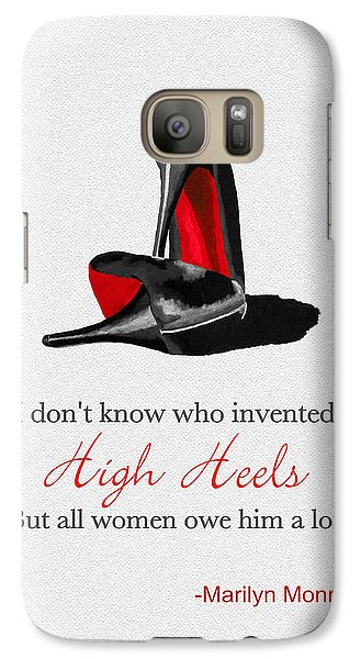 Who Invented High Heels? Galaxy S7 Case by Rebecca Jenkins