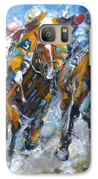 Galaxy Case featuring the painting Who Is Really Winning by Mary Armstrong