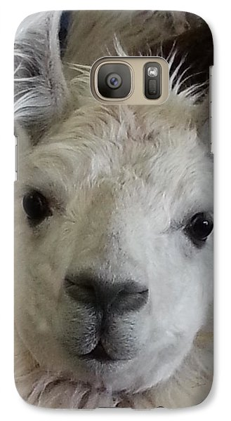 Galaxy Case featuring the photograph Who Me Llama by Caryl J Bohn