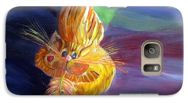 Galaxy Case featuring the painting Who Me? What Birdie? by LaVonne Hand