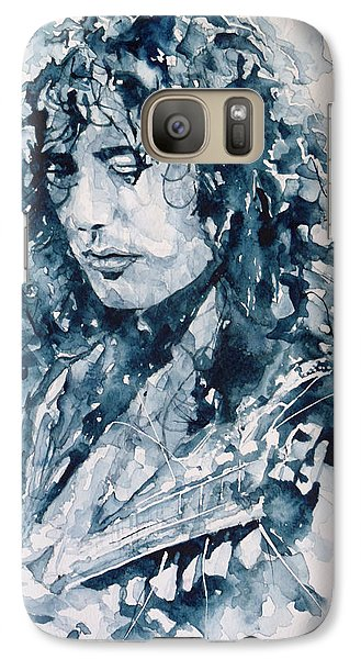Whole Lotta Love Jimmy Page Galaxy Case by Paul Lovering