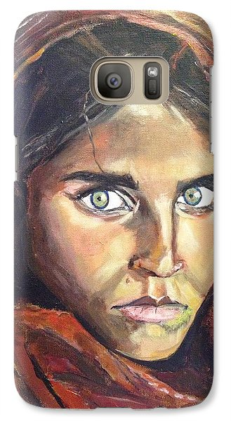 Galaxy Case featuring the painting Who's That Girl? by Belinda Low