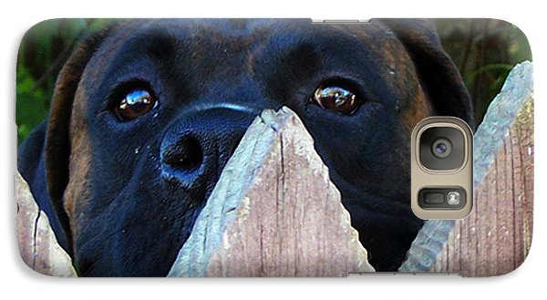 Galaxy Case featuring the photograph Who's There by B Wayne Mullins