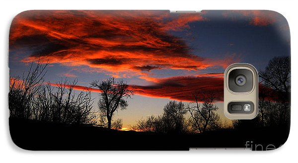 Galaxy Case featuring the photograph Wicked Skies by Janice Westerberg