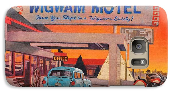 Galaxy Case featuring the painting Wigwam Motel by Art James West