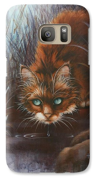 Galaxy Case featuring the painting Wild At Heart by Cynthia House
