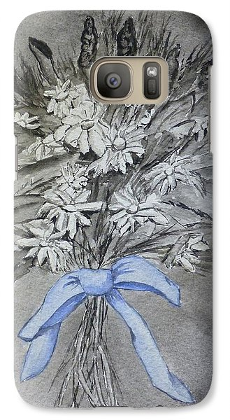 Galaxy Case featuring the painting Wild Blue Flowers by Kelly Mills