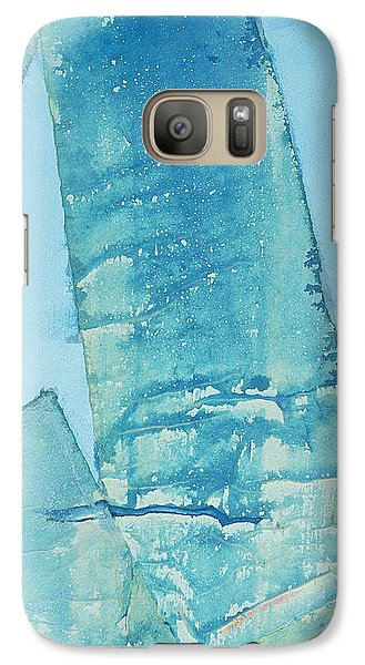 Galaxy Case featuring the painting Wild Blue Waves by Asha Carolyn Young