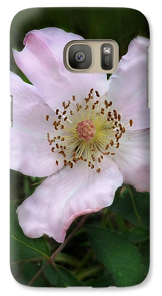 Galaxy Case featuring the photograph Wild Carolina Rose by William Tanneberger