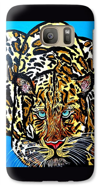 Galaxy Case featuring the painting Wild Cat by Nora Shepley