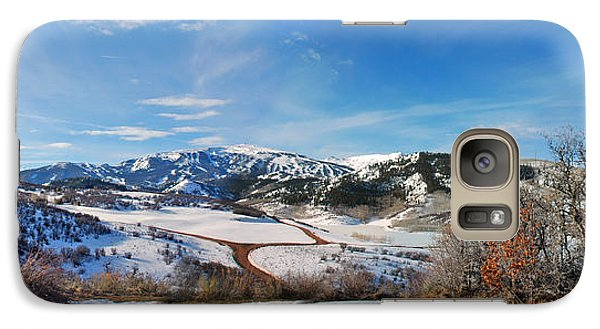 Galaxy Case featuring the photograph Wild Cat Ranch - Snowmass by Allen Carroll