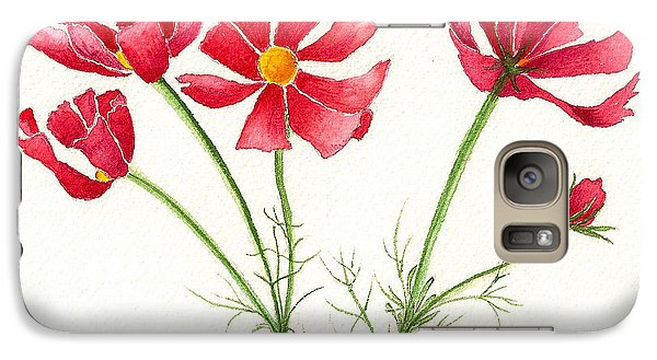 Galaxy Case featuring the painting Wild Cosmos by Nan Wright