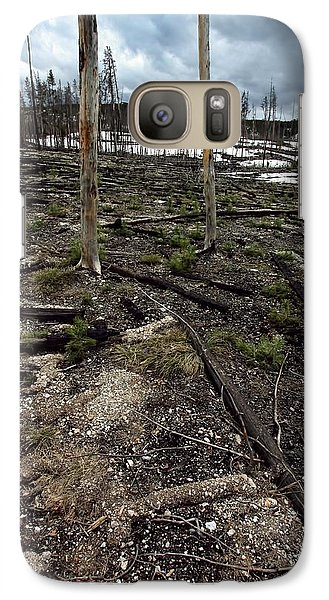 Galaxy Case featuring the photograph Wild Fire Aftermath by Amanda Stadther