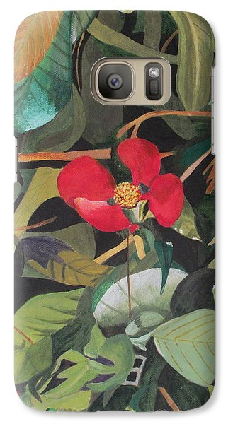 Galaxy Case featuring the painting Wild Flower by Hilda and Jose Garrancho