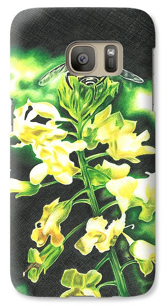 Galaxy Case featuring the drawing Wild Flower by Troy Levesque