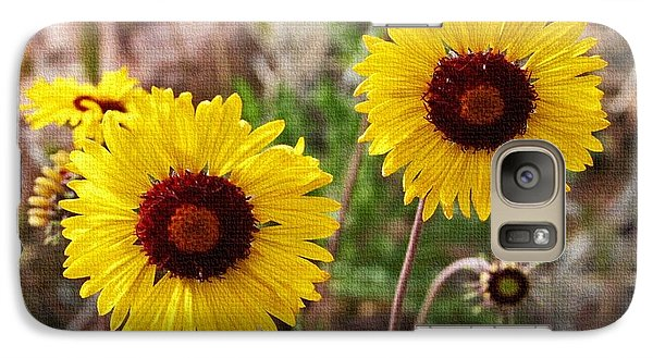 Galaxy Case featuring the photograph Wild Flowers Above The Rim by Tom Janca