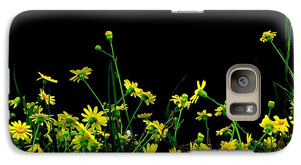 Galaxy Case featuring the photograph Wild Flowers At Night by Marwan Khoury