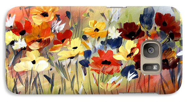Galaxy Case featuring the painting Wild Flowers by Dorothy Maier