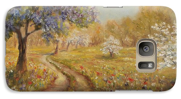 Galaxy Case featuring the painting Wild Garden Path by  Luczay