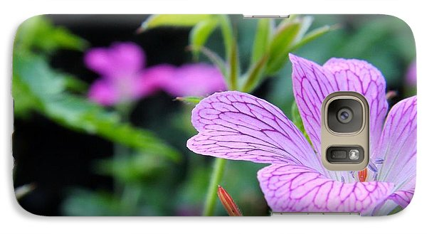 Galaxy Case featuring the photograph Wild Geranium Flowers by Clare Bevan