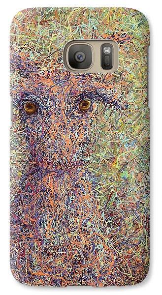 Goat Galaxy S7 Case - Wild Goat by James W Johnson