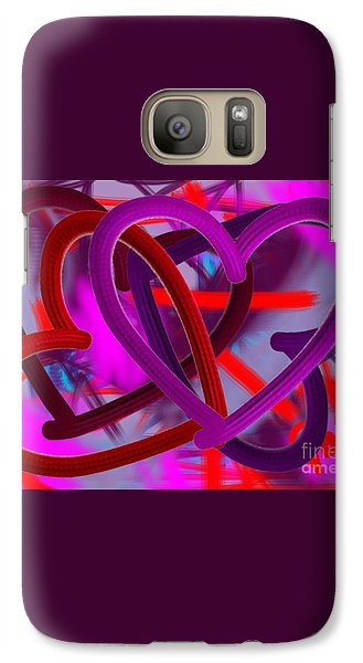 Galaxy Case featuring the painting Wild Hearts by Go Van Kampen