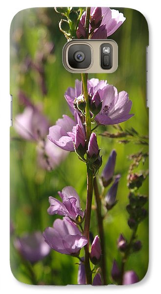 Galaxy Case featuring the photograph Wild Hollyhock by Jenessa Rahn