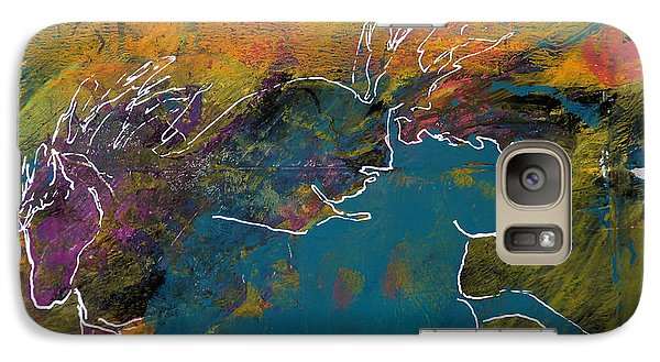 Galaxy Case featuring the painting Wild Horse Canyon by P Maure Bausch
