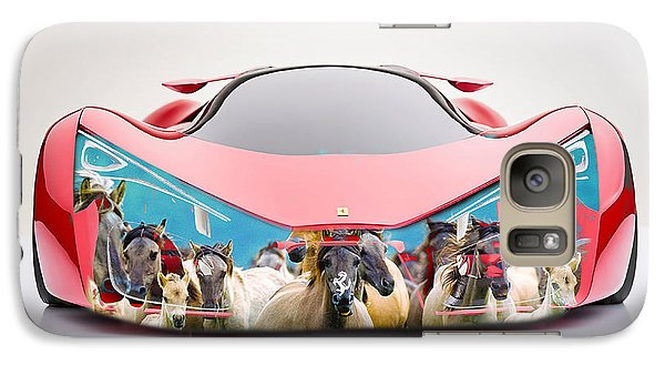 Wild Horses Ferrari F80 Galaxy Case by Marvin Blaine