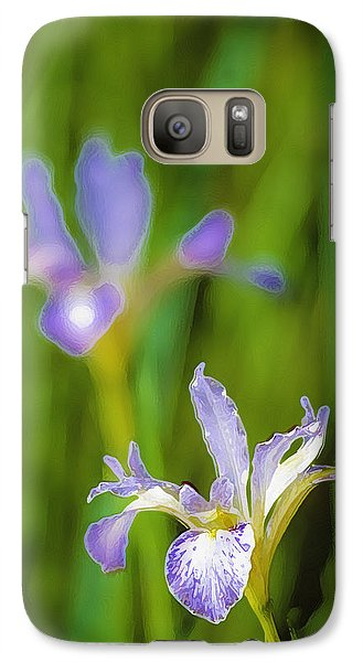 Galaxy Case featuring the photograph Wild Iris 2 by Sherri Meyer