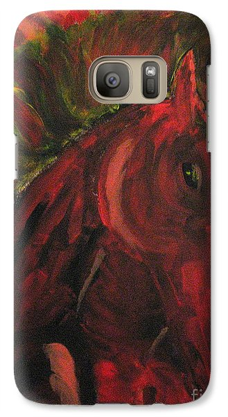 Galaxy Case featuring the painting Wild N' Free by Wendy Coulson