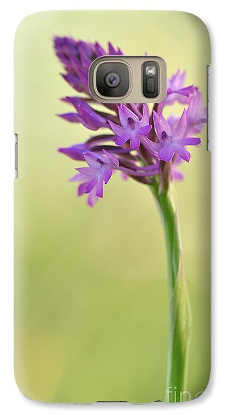 Galaxy Case featuring the photograph Wild Orchid by Simona Ghidini