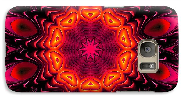 Galaxy Case featuring the digital art Wild Pink by Hanza Turgul