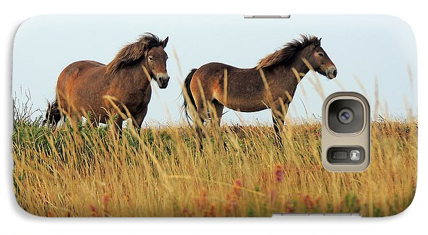 Galaxy Case featuring the photograph Wild Ponies On Exmoor by Jayne Wilson