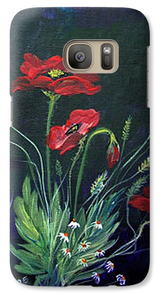 Galaxy Case featuring the painting Wild Poppies Bouquet by Dorothy Maier