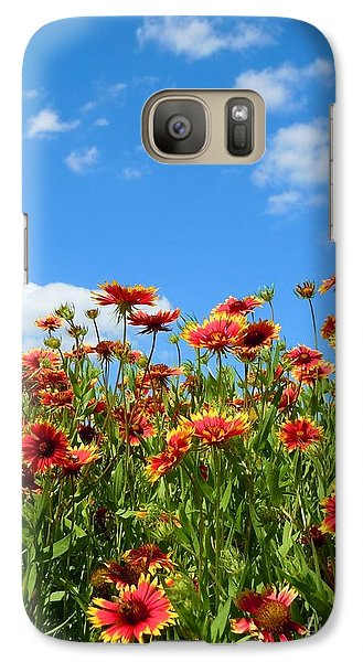 Galaxy Case featuring the photograph Wild Red Daisies #5 by Robert ONeil