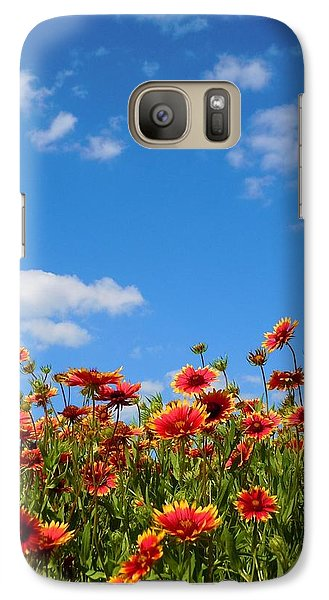 Galaxy Case featuring the photograph Wild Red Daisies #6 by Robert ONeil
