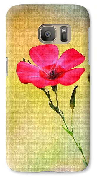 Galaxy Case featuring the photograph Wild Red Flower by Tom Janca