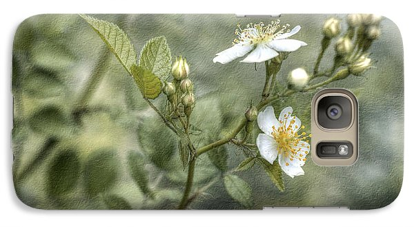 Galaxy Case featuring the photograph Wild Rose by Kathleen Holley