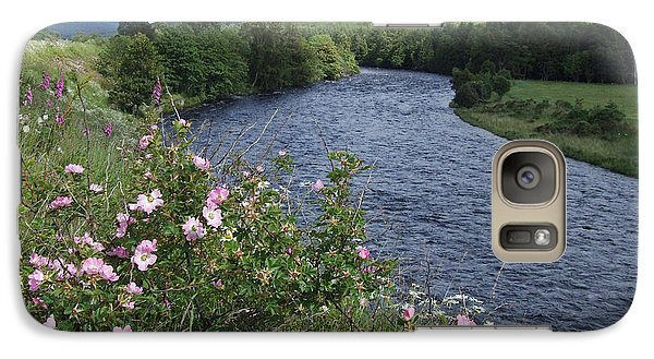 Galaxy Case featuring the photograph Wild Roses By The River Dee by Phil Banks