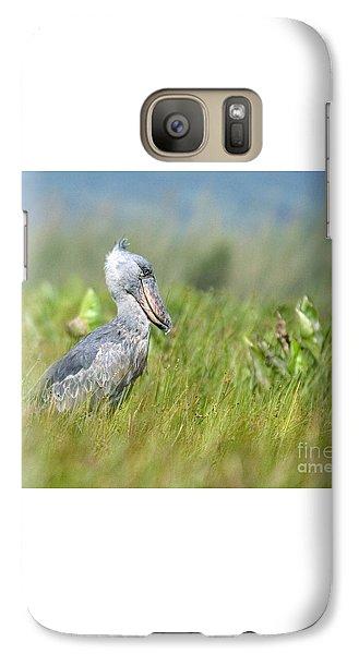 Galaxy Case featuring the photograph Wild Shoebill Balaeniceps Rex  by Liz Leyden