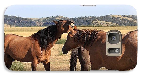 Galaxy Case featuring the photograph Wild Spanish Stallion In Charge by Kate Purdy