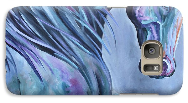 Galaxy Case featuring the painting Wild Stallion Abstract by Debbie Hart