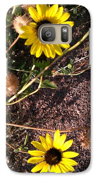 Galaxy Case featuring the photograph Wild Sunflowers by Fortunate Findings Shirley Dickerson