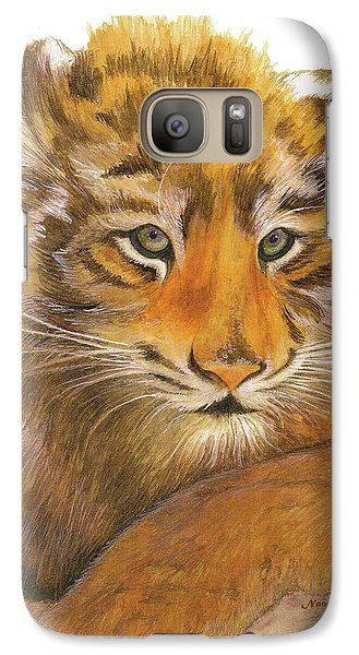 Galaxy Case featuring the painting Wild Tiger Cub by Nan Wright