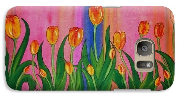Galaxy Case featuring the painting Wild Tulips by Cindy Micklos
